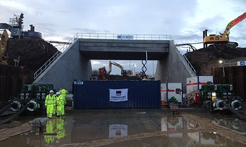 Freyssinet completes successful bridge slide using Autofonçage® in Immingham (UK) | Freyssinet News
